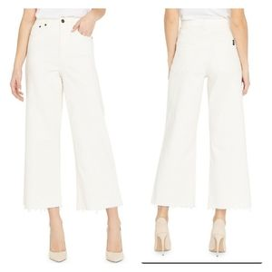 BUFFALO Semi Hi-Rise Wide-Leg Cropped Jeans